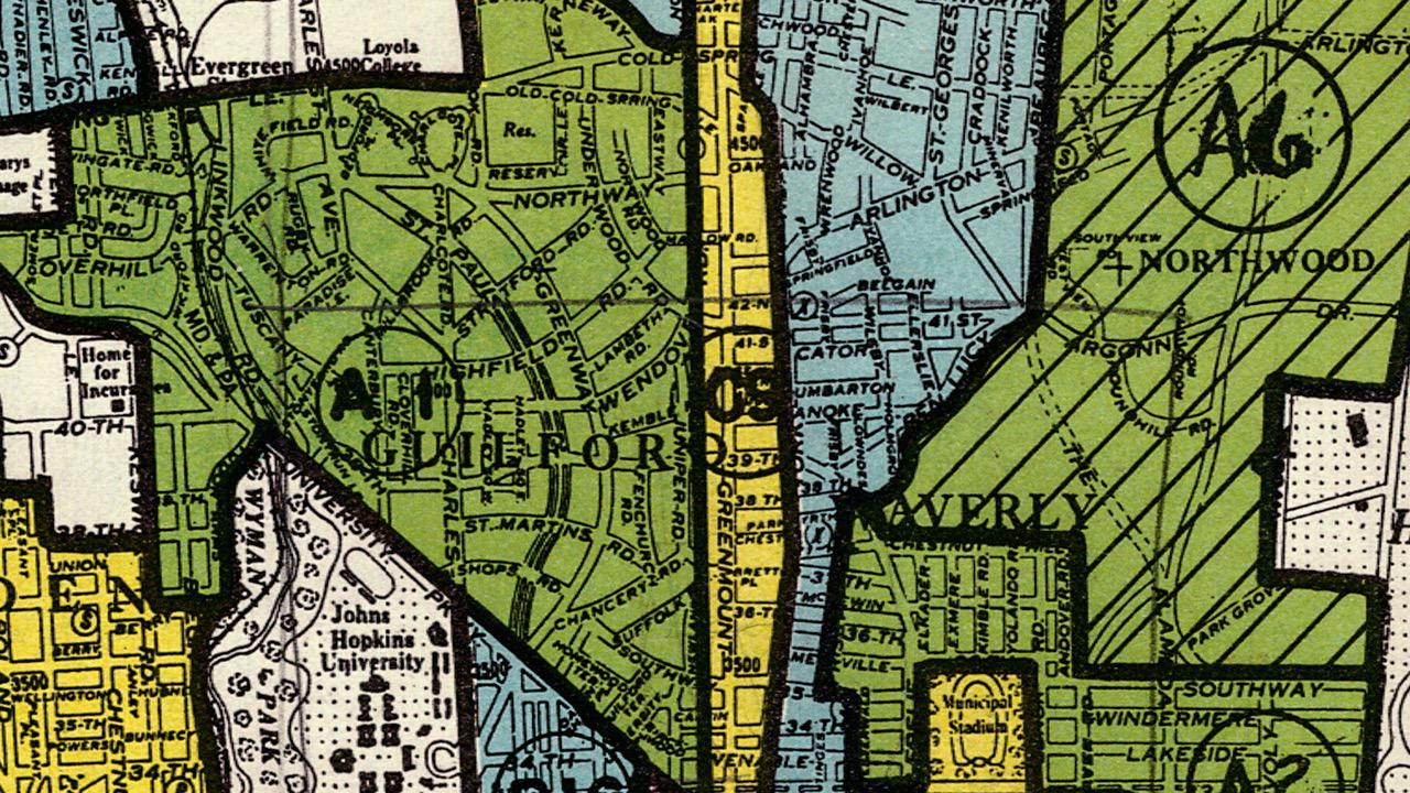 Map of Baltimore in Theo Anthony's Rat Film. Photo: MEMORY.